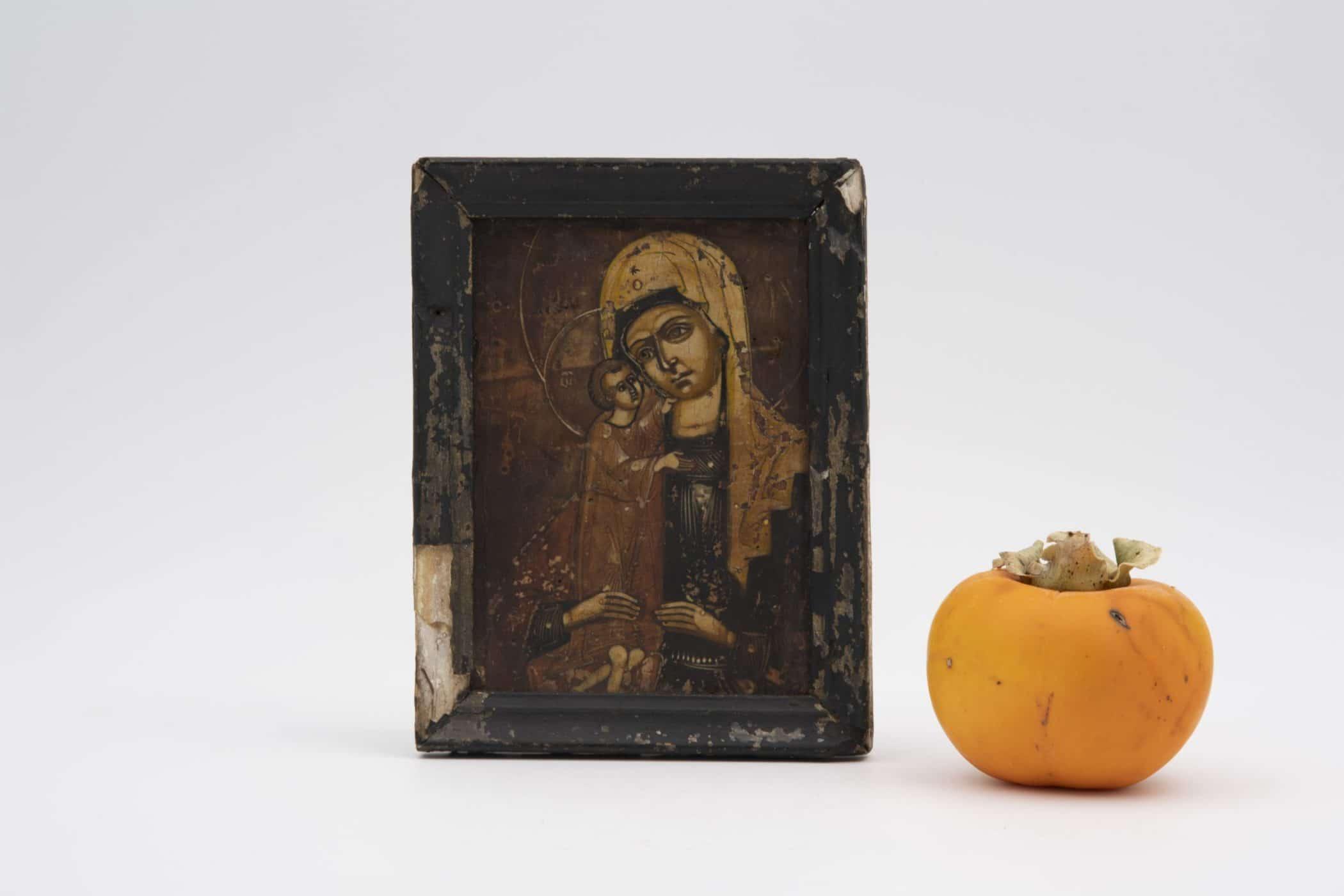 Icône russe sur bois, XVIIIe siècle.