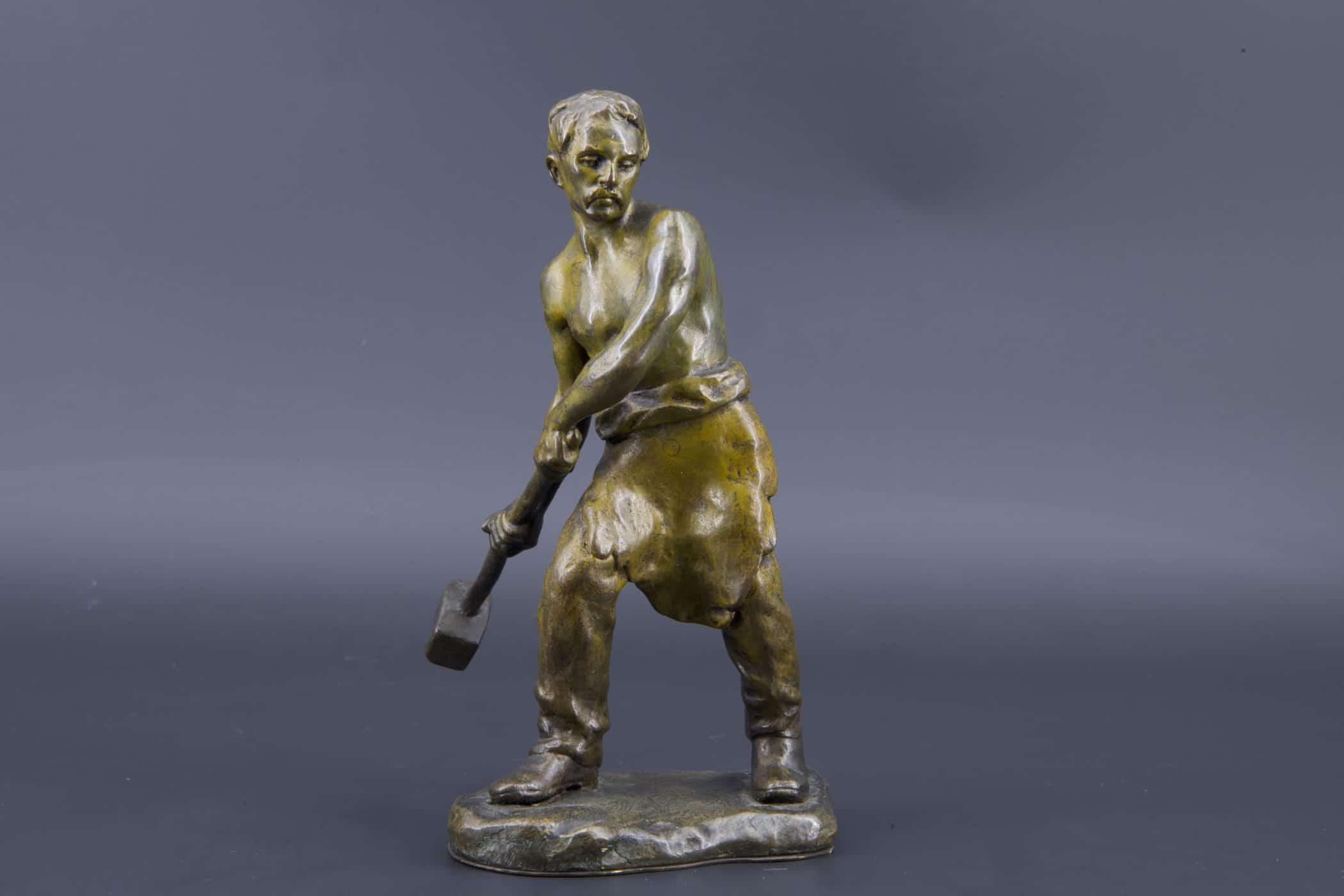 Bronze du sculpteur hongrois Andor Ruff, XXe siècle