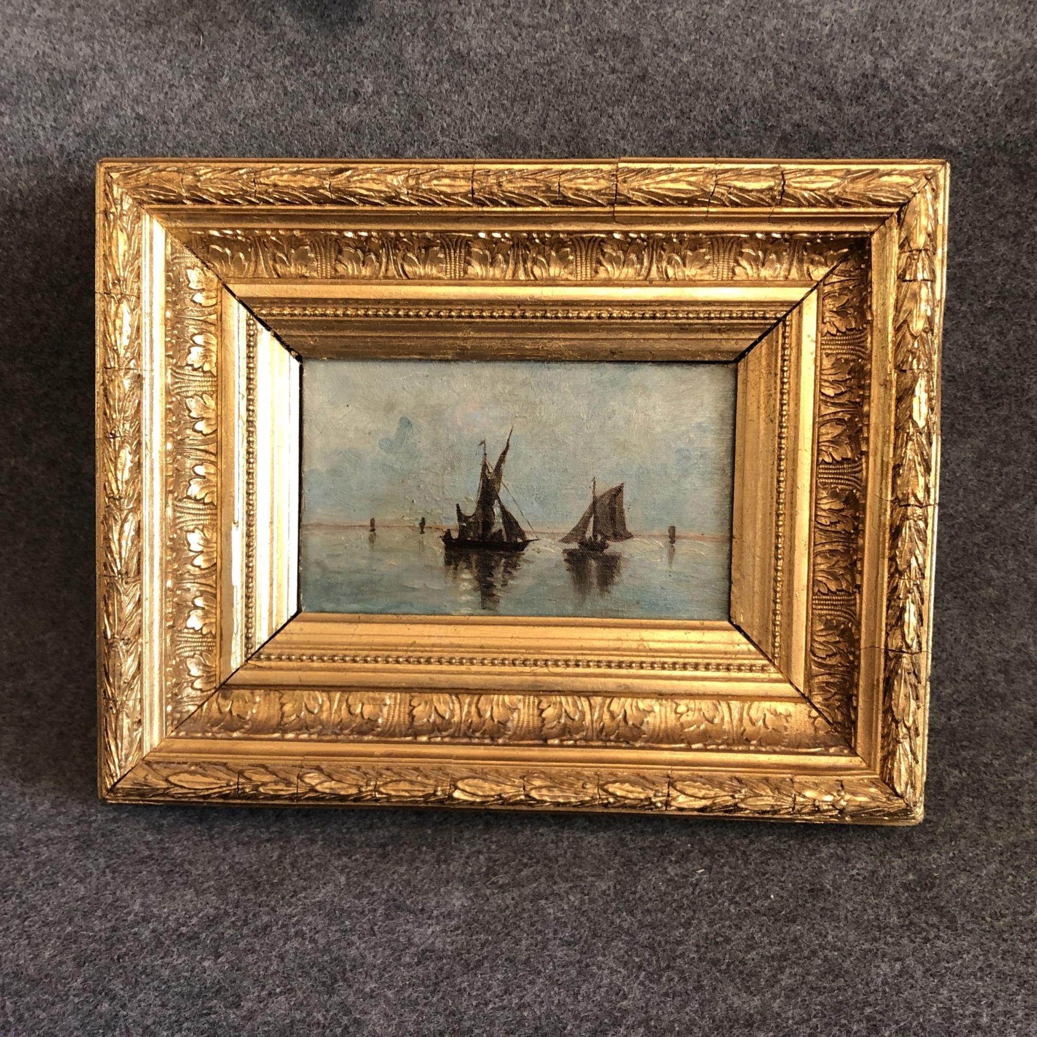 Petit tableau impressionniste, XIXe siècle.