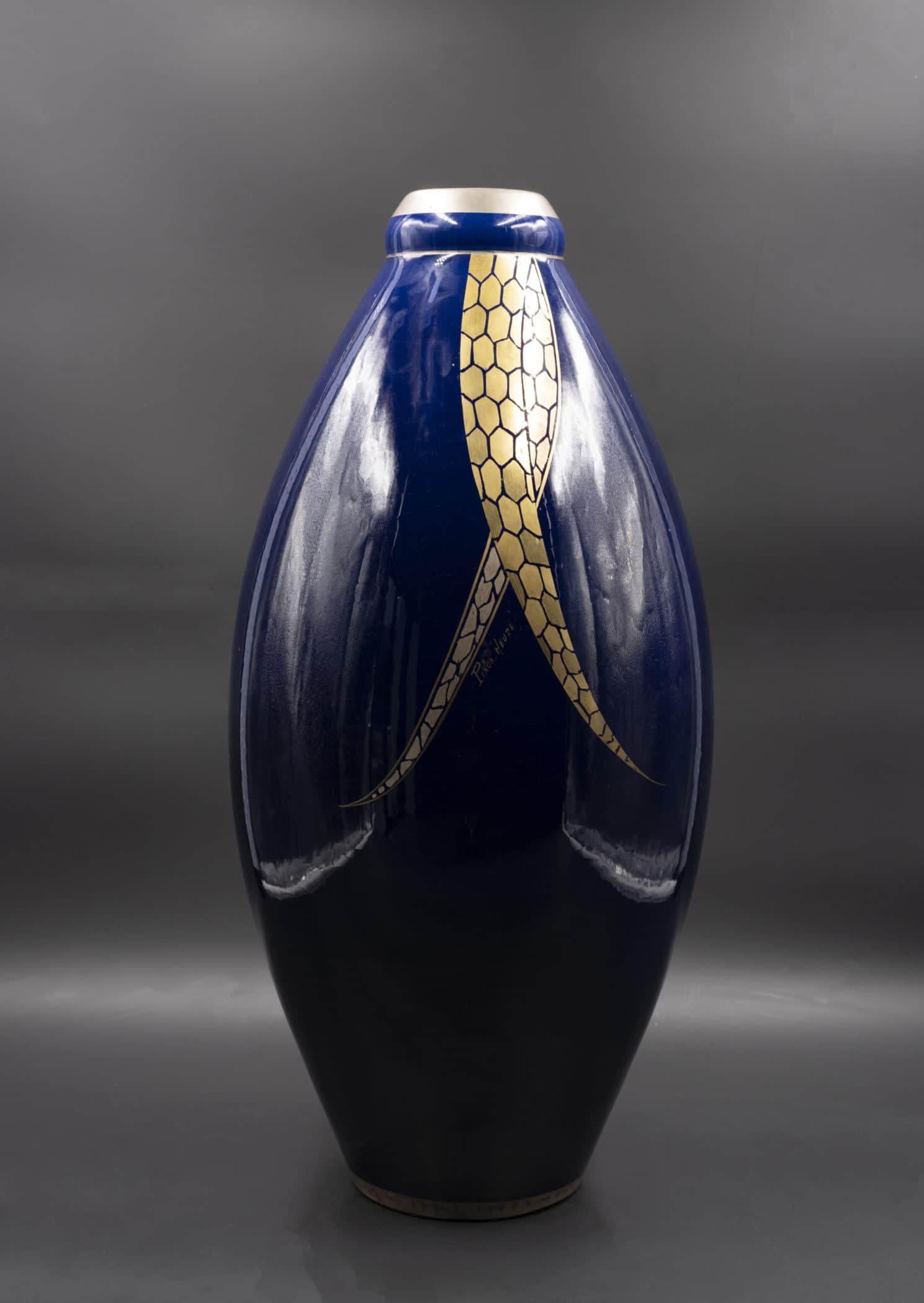 Vase Art Déco, circa 1930. Pinon - Heuzé, Tours.