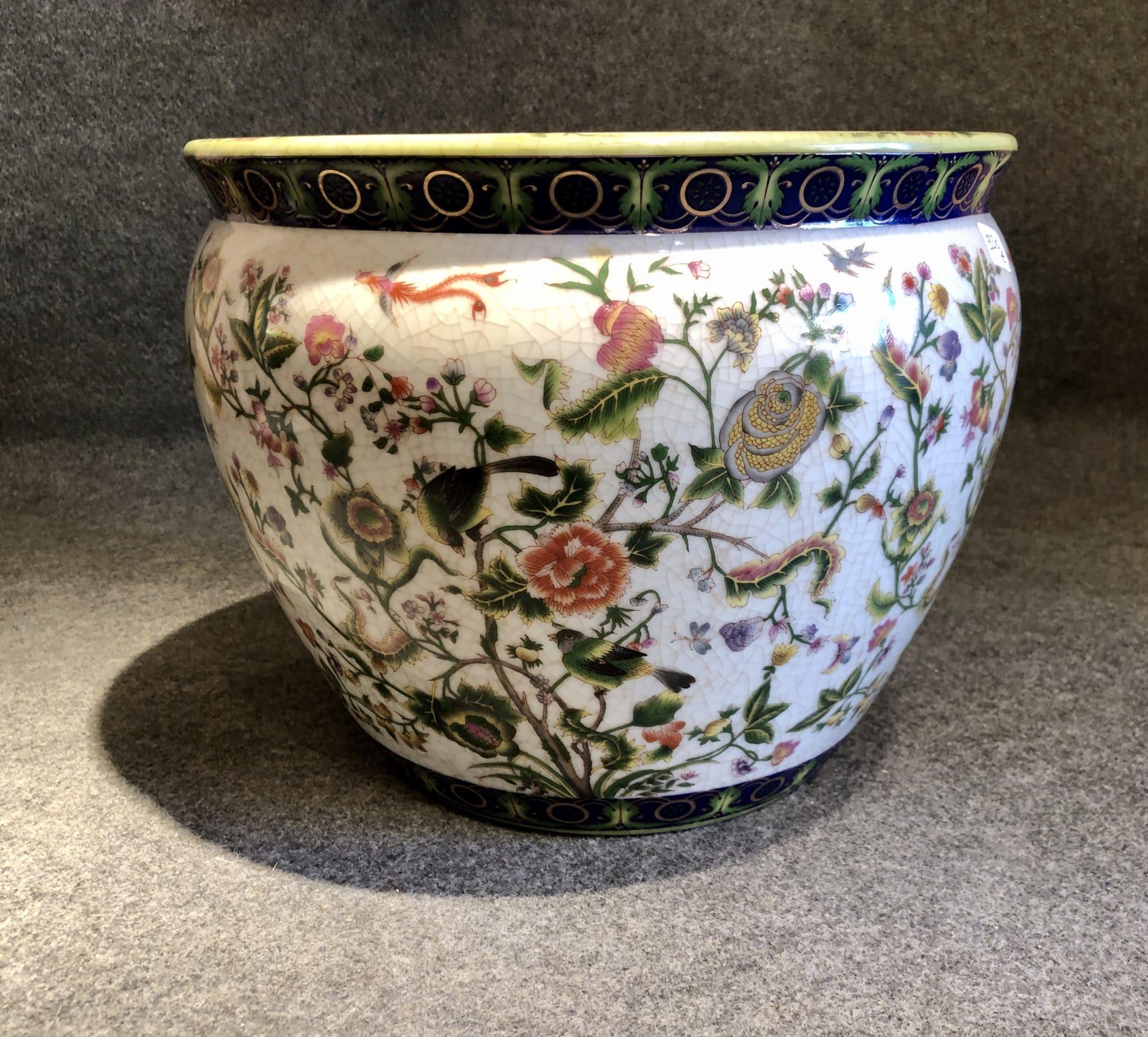Cache-pot chinois en céramique, début XXe siècle