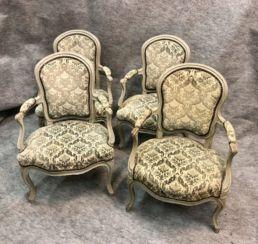 Suite de chaises style Louis XV, XIXe siècle.