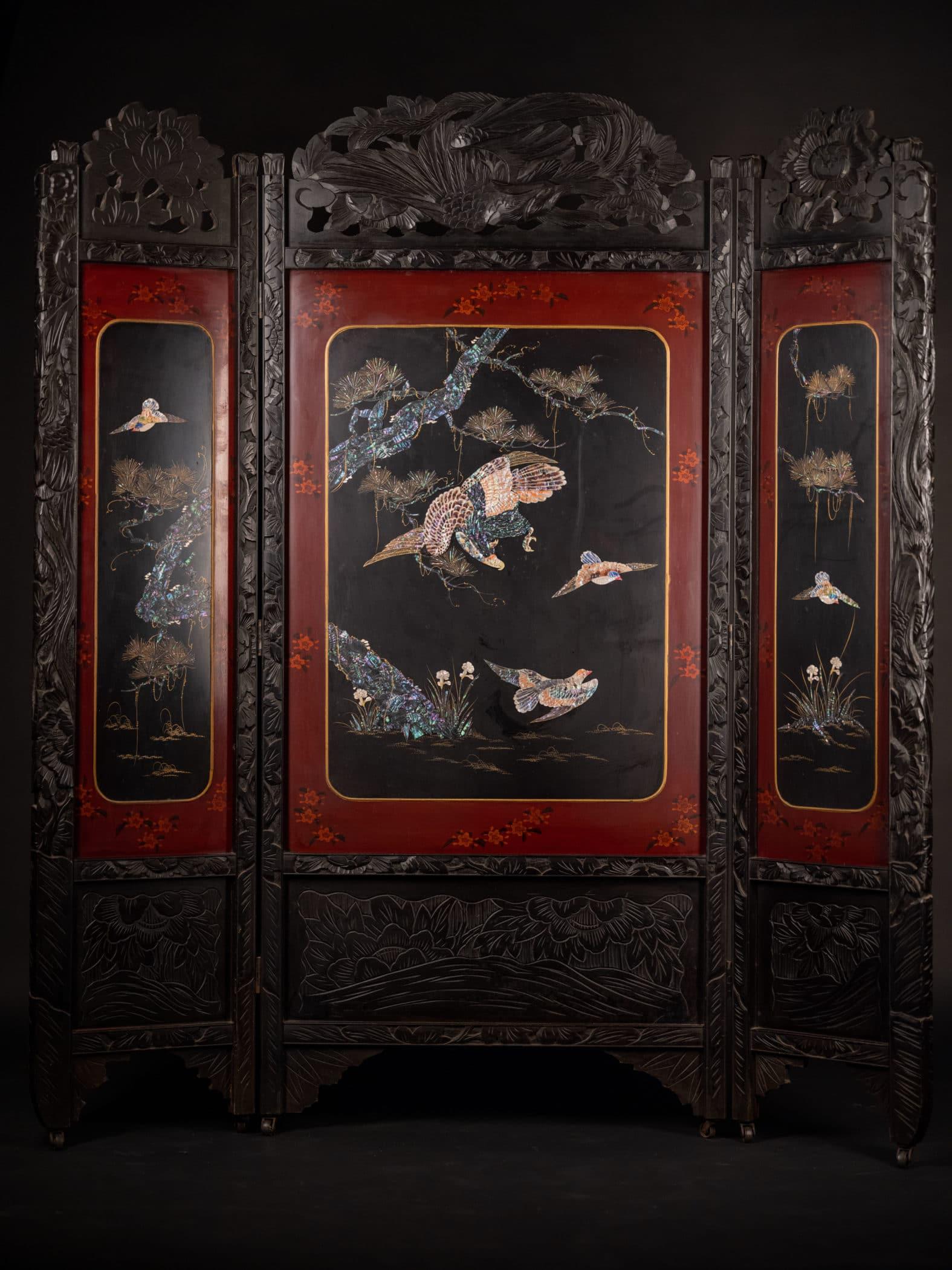 Paravent chinois, XXe siècle