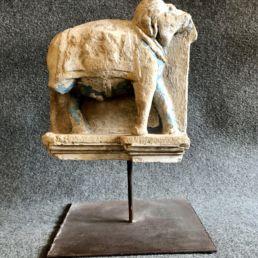 Sculpture indienne d'un éléphant, XVIIe siècle.