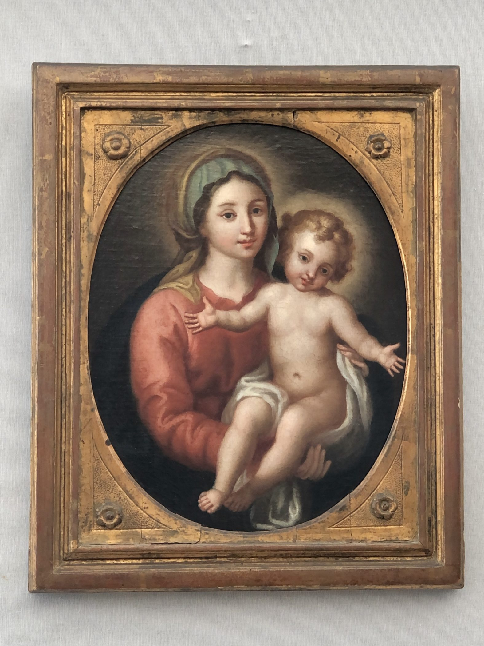 Madonna and Child, Oil on Canvas. Italy, 18th century