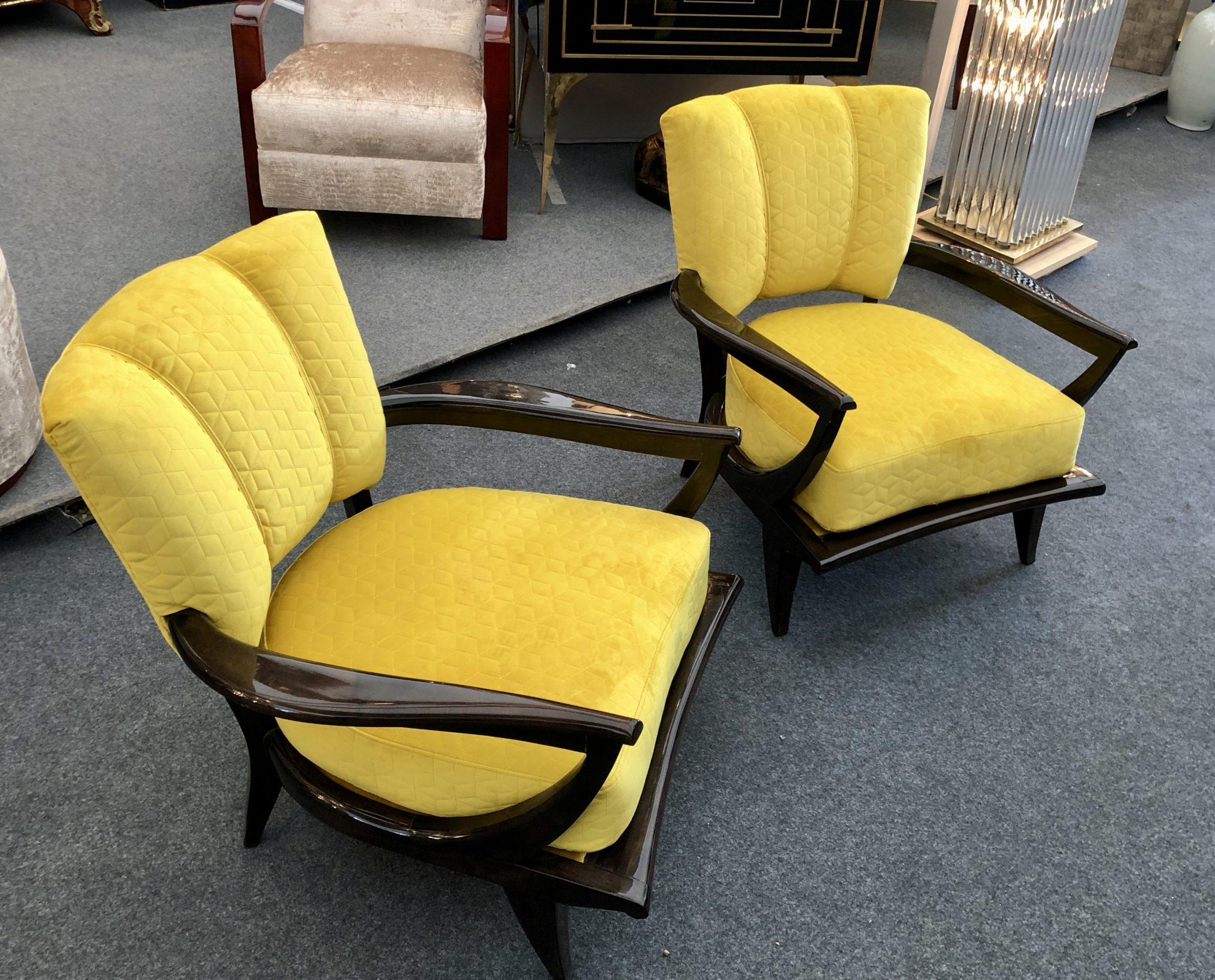 Paire de fauteuils SK250 par Etienne Henri Martin et édité par Steiner, 1950