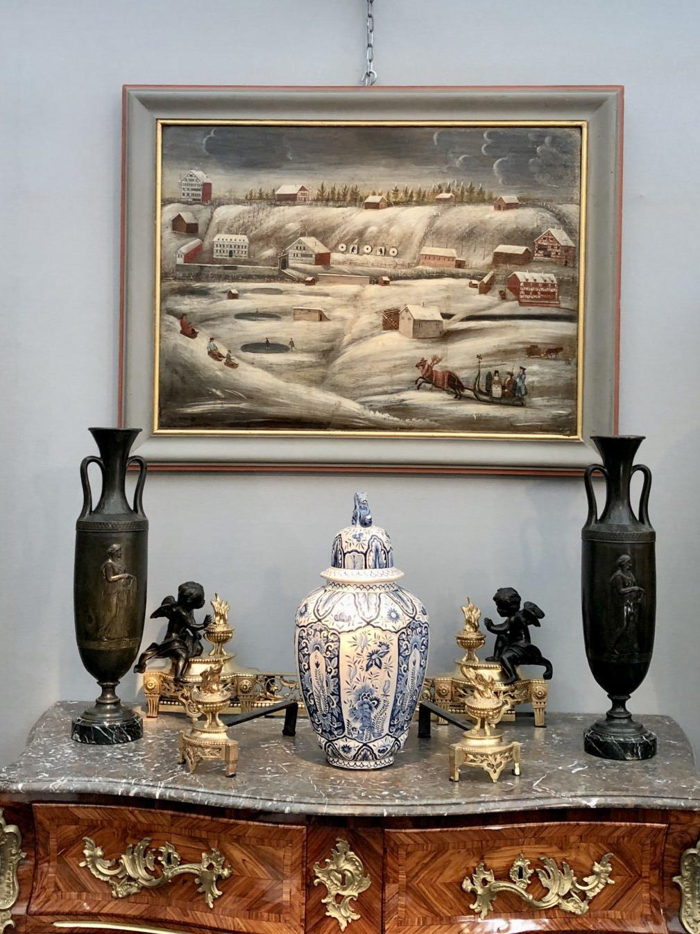 Paire de hautes potiches satsuma, XIXe siècle